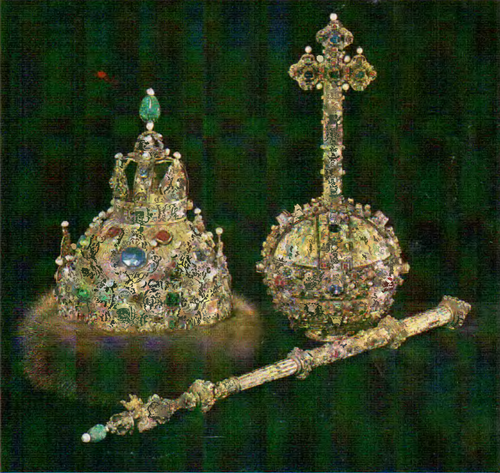 The Grand Regalia Venets scepter, orb. Moscow. 1627 1628