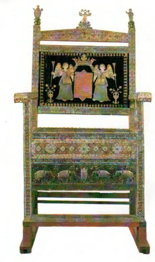 The diamond throne Persia 17th century.