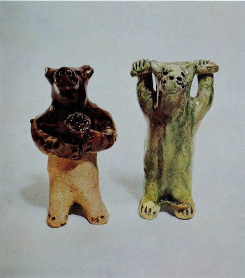 A Bear. Russian Traditional Folk Clay Toys