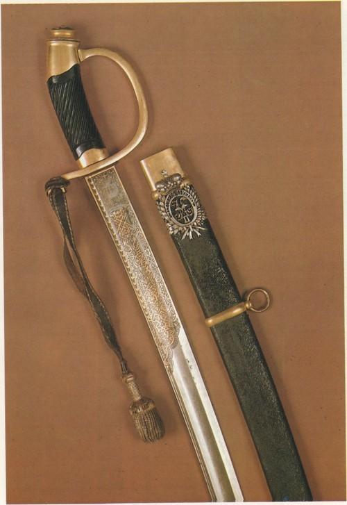 Light sabre, model 1881. Presentation officer's weapon. 1883