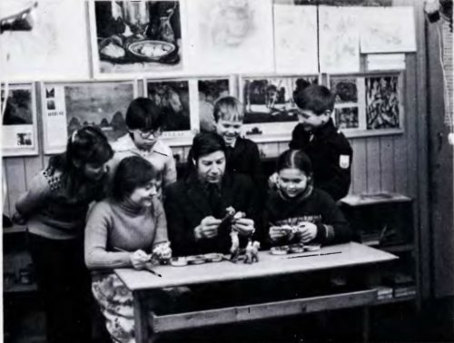 Clay-toy Department in the Art School. 1984
