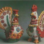Traditional Russian folk crafts Dymkovo toys