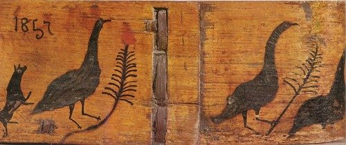 Gorodets folk painting