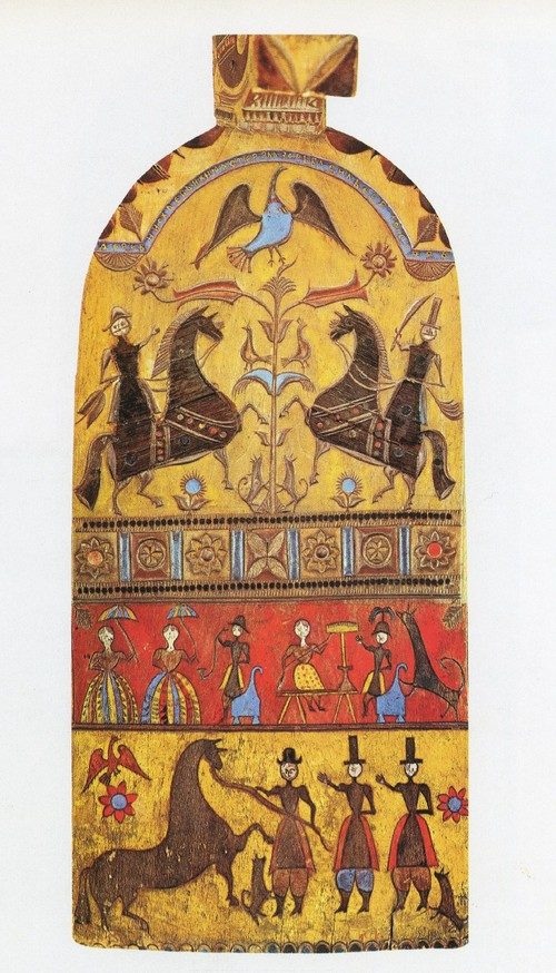 Gorodets folk painting