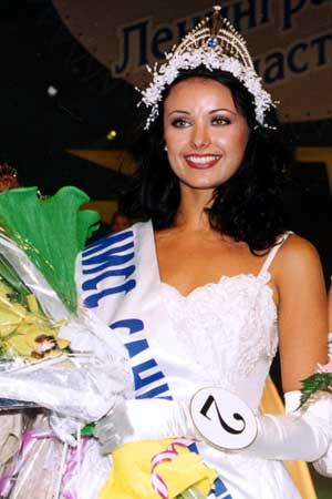 Oksana Fedorova in the Miss Saint Petersburg pageant in 1999