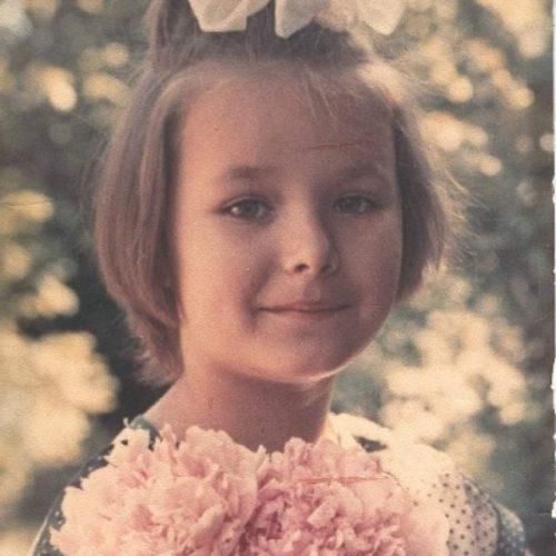 Oksana Fedorova as a child