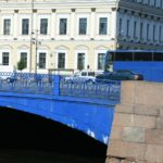 Built in the 18th century Blue Bridge in St. Petersburg