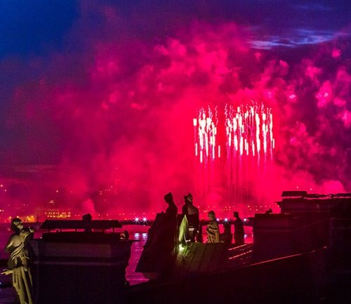Colorful celebration in Saint Petersburg. Photo by Marina Lystseva