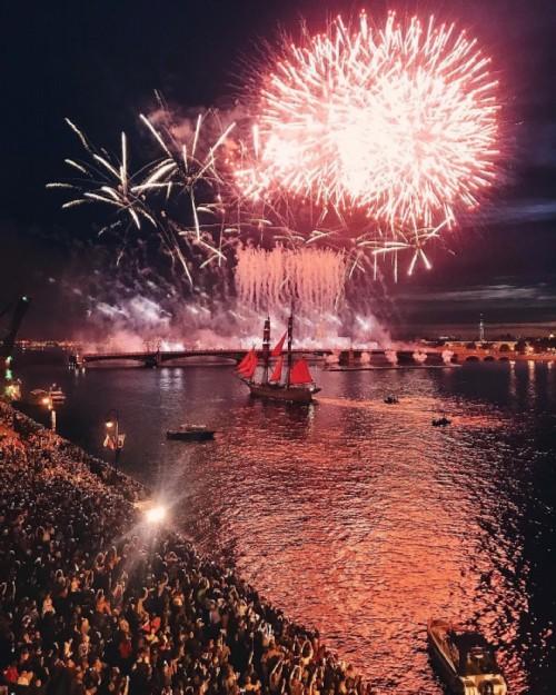 Colorful celebration in Saint Petersburg.