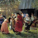 Devichnik (bride's holiday). Artist A. Korzukhin. 1889