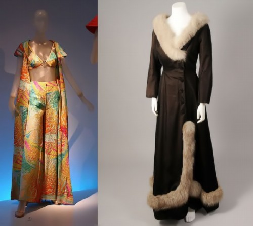 Golitsyna created both beach suits and outerwear.