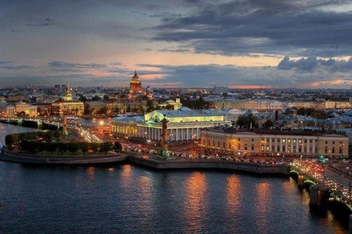 Gorgeous view of St. Petersburg at night