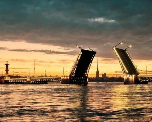 Moveable Palace Bridge, St. Petersburg