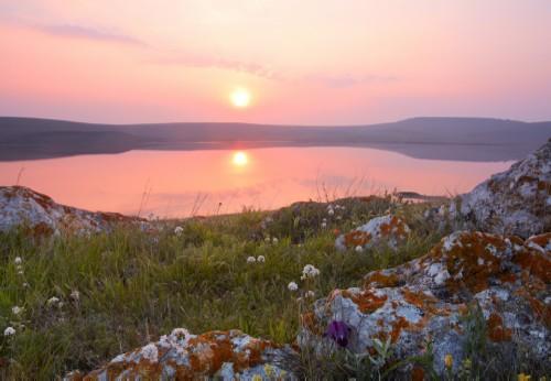 Sunset on Lake Koyashskoe