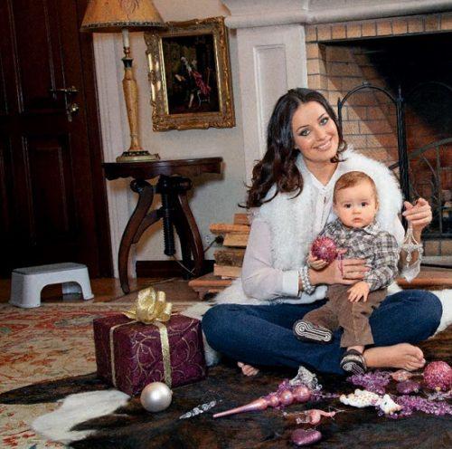 With her son Fyodor. Family happiness of Miss Universe Oksana Fyodorova