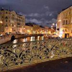 Yellow bridge, now Singers' Bridge (Pevchesky bridge)