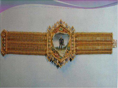 Bracelet with a portrait of Tsar Alexander I