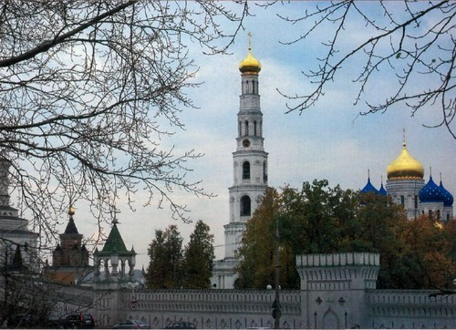 View of the Nikolo-Ugreshsky Monastery from the side of Nikolai Square.