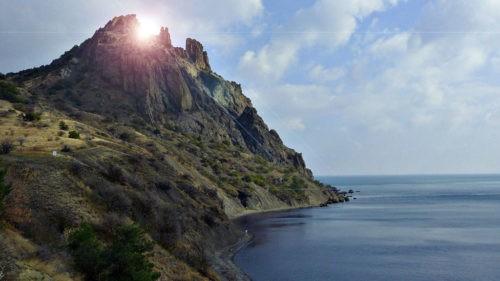 Volcano Kara-Dag in Crimea