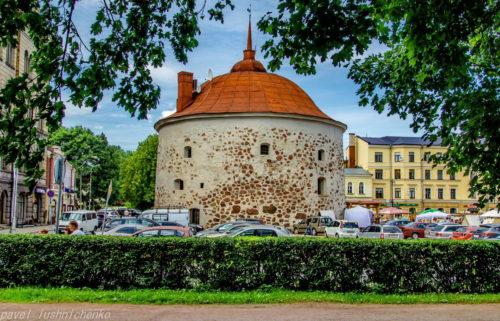 Round tower in Vyborg