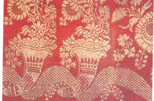 Brocade shawl. Moscow province, Kolomensky district. The first half of the nineteenth century