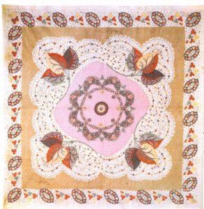 Cotton scarf. Moscow. Prokhorovskaya Trekhgornaya Manufactory. Mid-19th century