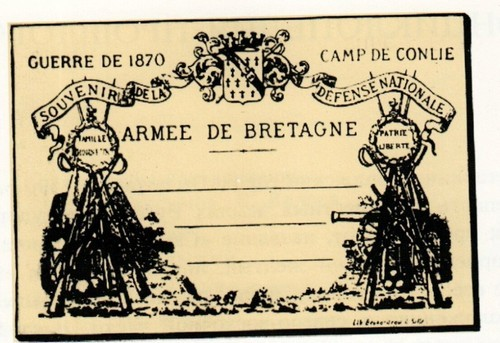 France. the first illustrated postcard by Leon Besnard. 1870