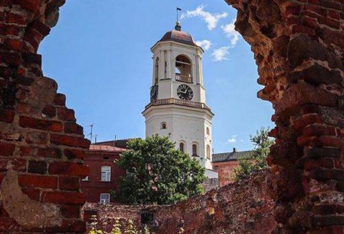 Clock tower in Vyborg