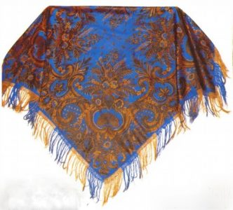 Silk shawl. Moscow province. 60s of the nineteenth century