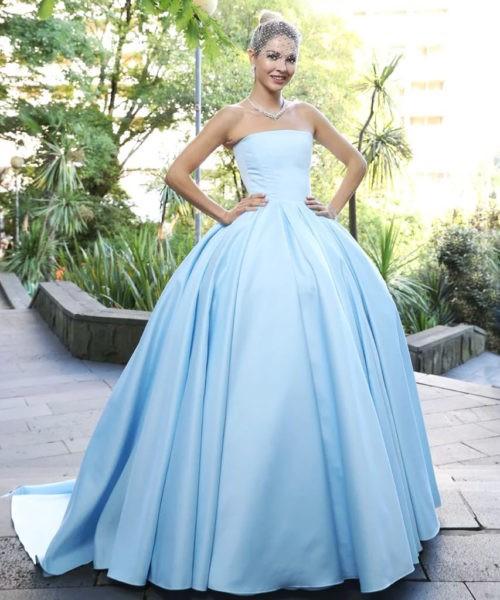 Natalia Bardo in a dress by Annette Hoffmann