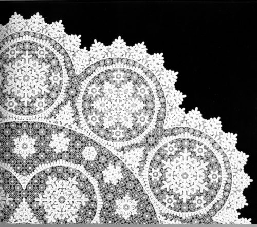 "V.N. Elfin. Tablecloth ""Snowflake"", 1959"