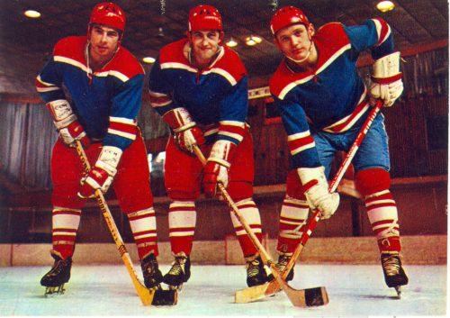 USSR national hockey team. Three hockey