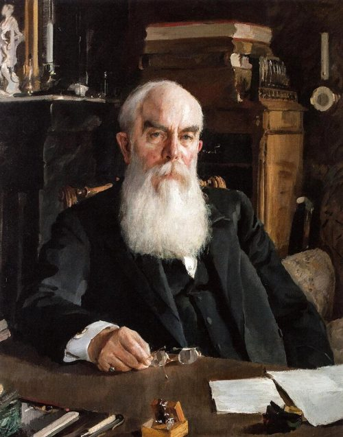 V. Serov. Portrait of A.I. Abrikosov. 1895 year