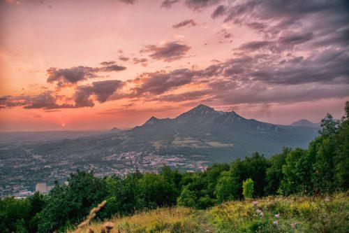 Sunset on Mount Mashuk