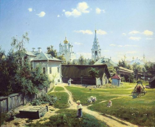 Moscow courtyard. 1878