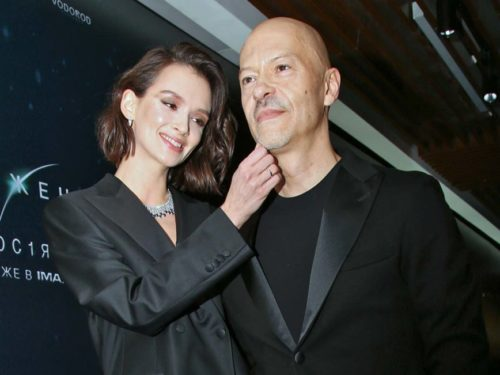 Cinema OCTOBER. Premiere of the film INVASION. 2019. In the picture: actress Paulina Andreeva and director Fyodor Bondarchuk