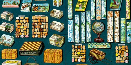 Advertising list of the confectionery company Abrikosovs & Sons