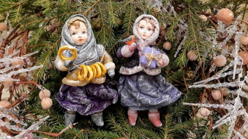 Russian Christmas cotton wool toys