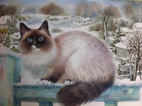 Tatyana Khazova. Siamese cat