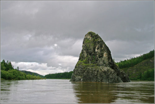 The rock-church, as travelers on Vitim call it in their reports. Stands opposite the mouth of the Yumurchen River