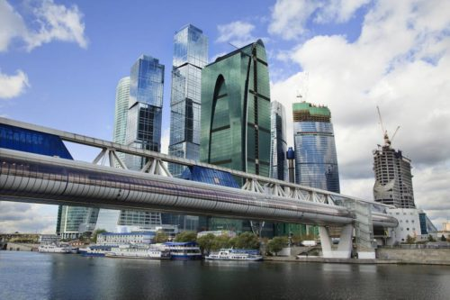 Bagration bridge. The most beautiful bridges in Moscow