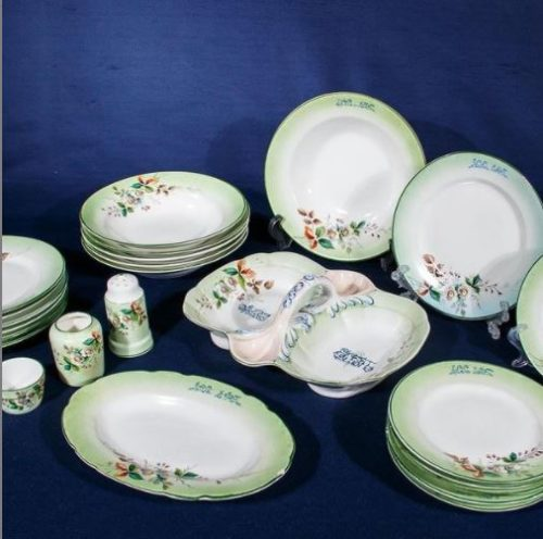 Porcelain collection in the museum