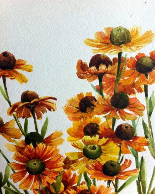 Orange flowers. Tatyana Khazova