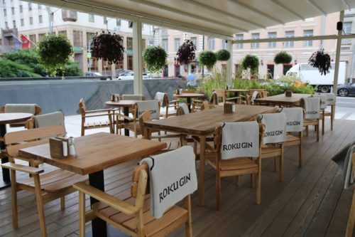 Summer terraces of restaurants in Moscow. The summer terrace in Eva restaurant