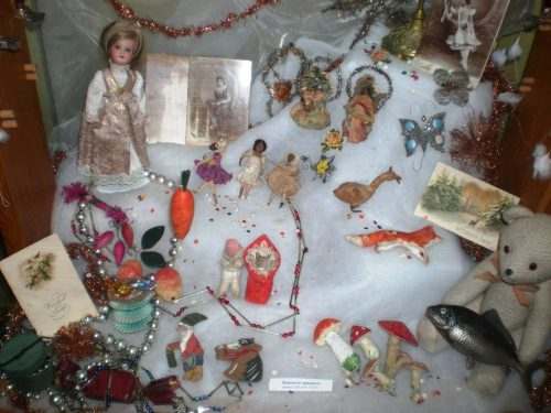 Russian New Year wadded toys