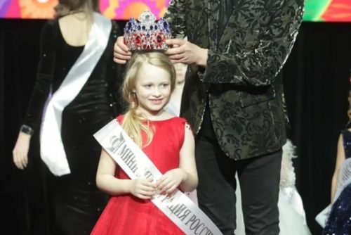 7-year-old Barbara. Mini Miss and Mister Russia 2021