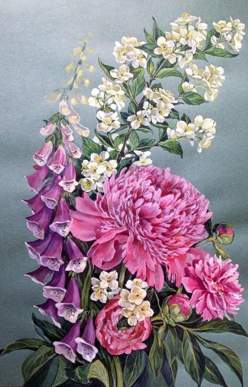 Pink bouquet. Tatyana Khazova