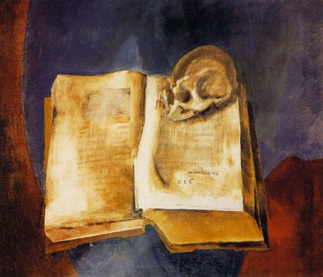 A Skull on the Open Book 1950