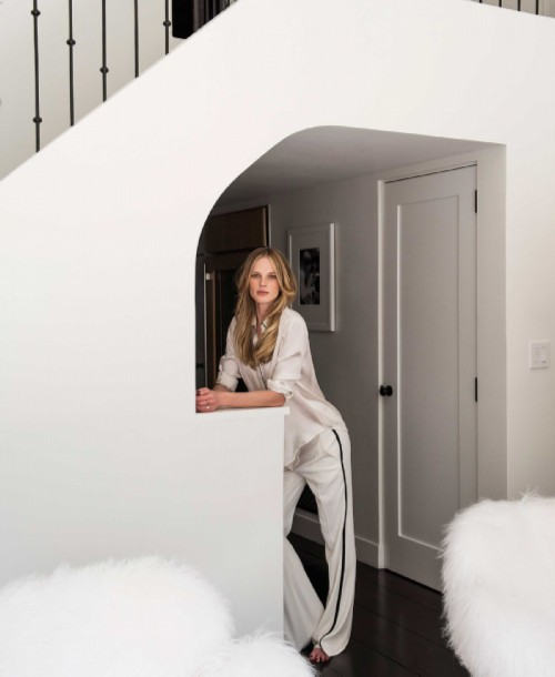 Anna Vyalitsyna in her apartment in New York