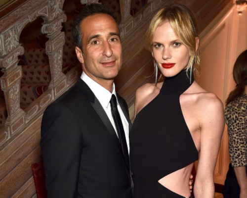 Anna Vyalitsyna with her husband Adam Kahan. Russian models with good husbands